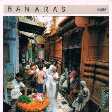 Postales: INDIA, BANARAS, ENTRADA AL TEMPLO. Lote 234519325