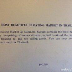 Postales: DESPLEGABLE DE 12 POSTALES TAILANDIA FLOATING MARKET FAMOUS FLOATING MARKET OF THAILAND - IMPECABLES. Lote 239644875