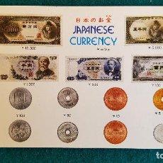 Postales: POSTAL JAPANESE CURRENCY - BILLETES Y MONEDAS DE JAPON. Lote 243895240