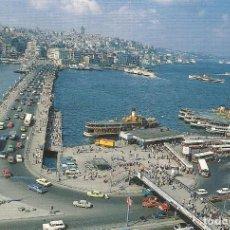 Postales: ISTANBUL. ESTANBUL. EL PUENTE DE GALATA. TURQUÍA. 10X15 CM. AÑOS 70.. Lote 245254770