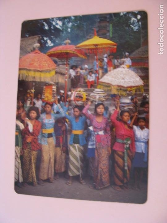 POSTAL DE INDONESIA, BALI. FESTIVAL DE TEMPLO. NUTSHELL CARD. (Postales - Postales Extranjero - Asia)