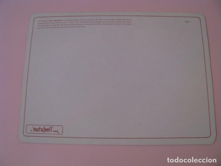 Postales: POSTAL DE INDONESIA, BALI. FESTIVAL DE TEMPLO. NUTSHELL CARD. - Foto 2 - 254450555
