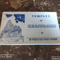 Postales: TEMPLES OF KHAJURAHO (20 PICTURES POST CARDS). Lote 255499105