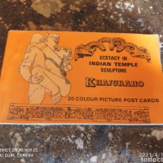 Postales: ECSTACY IN INDIAN TEMPLE SCULPTURE KHAJURAHO (20 COLOUR PICTURES POST CARDS). Lote 255499520