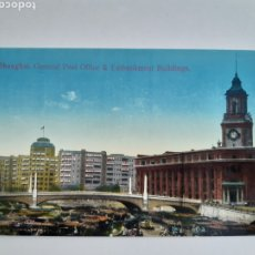 Postales: ANTIGUA TARJETA POSTAL SHANGHAI GENERAL POST OFFICE EMBANKMENT BUILDINGS AÑOS 30 KINGSHILL CHINA. Lote 262919525