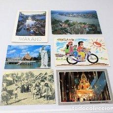 Postales: LOTE DE 6 POSTALES DE TAILANDIA.. Lote 267511804