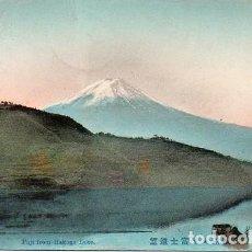 Postales: JAPÓN - LAGO HAKONE FRENTE MONTE FUJI. Lote 269032429