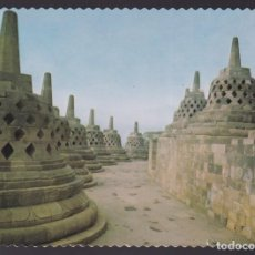 Postales: INDONESIA. JAVA CENTRAL. YOGYAKARTA. *THE TERRACE OF THE BOROBUDUR TEMPLE...* CIRCULADA 1978.. Lote 271566213