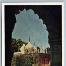 Postales: 1958 INDIA RED FORT IN DELHI REAL PHOTO SOVIET USSR POSTCARD. Lote 278709943