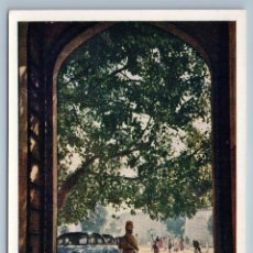 Postales: 1958 INDIA AT GATE OF CASTLE IN JAIPUR OLD CAR REAL PHOTO SOVIET USSR POSTCARD. Lote 278709978