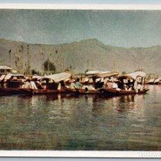 Postales: 1958 INDIA SHIKARY BOAT LAKE DAL SRINAGAR SEASCAPE REAL PHOTO SOVIET POSTCARD. Lote 278711293