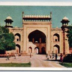 Postales: 1958 INDIA MAUSOLEUM OF EMPEROR AKBAR -SIKANDR REAL PHOTO SOVIET USSR POSTCARD. Lote 278719273