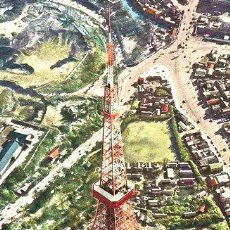Postales: POSTAL JAPON TOKYO TOWER TORRE VISTA DESDE ARRIBA NUMERO 091. Lote 278865638