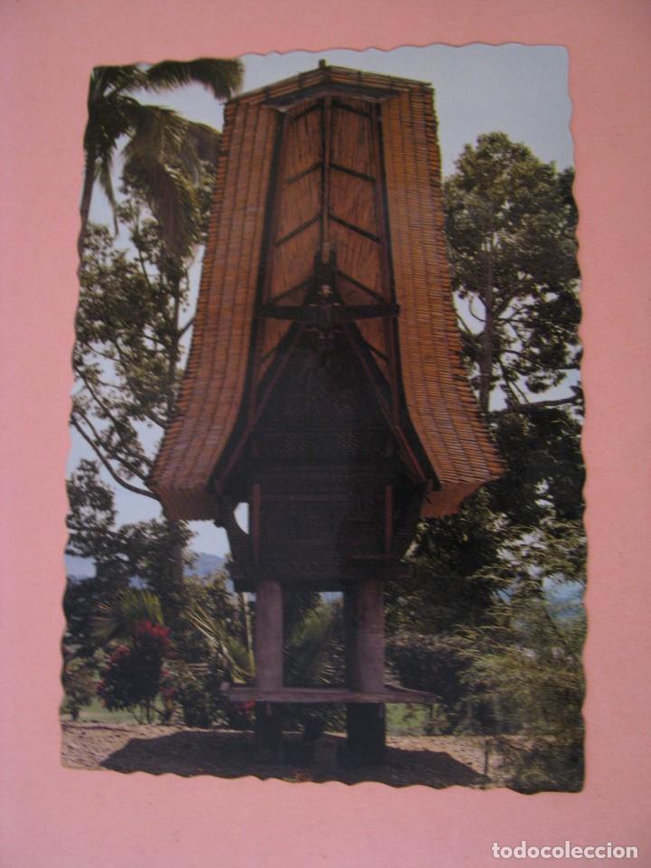 POSTAL DE INDONESIA. SULAWESI. GRANERO DE ARROZ. CIRCULADA 1986. (Postales - Postales Extranjero - Asia)