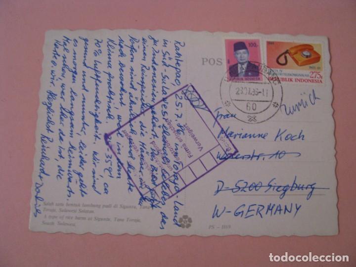 Postales: POSTAL DE INDONESIA. SULAWESI. GRANERO DE ARROZ. CIRCULADA 1986. - Foto 2 - 289258193