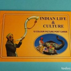 Postales: 12 POSTALES INDIAN LIFE & CULTURE. Lote 290473563