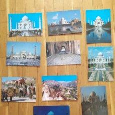 Postales: LOTE 10 POSTALES INDIA. Lote 293191973