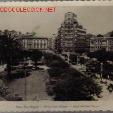 Postales: TARJETA POSTAL ANTIGUA DE GIJON Nº211 - PLAZA SAN MIGUEL . Lote 17048804