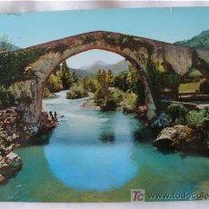 Postales: POSTAL DEL PUENTE ROMANO DE CANGAS DE ONIS ASTURIAS. Lote 5866963