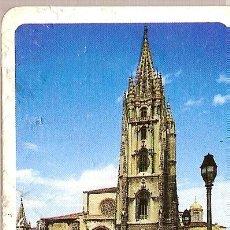Postales: PEQUEÑA FICHA DE OVIEDO EN CARTÓN GRUESO, CON COMENTARIO POR DETRÁS.. Lote 6041219
