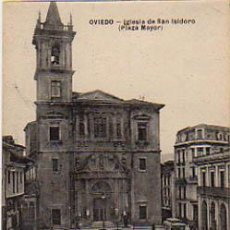 Postales: OVIEDO. IGLESIA DE SAN ISIDORO. (PLAZA MAYOR). (ED. M.G., OVIEDO). Lote 7079460