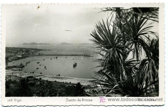 VIGO Nº 148 - ED. ARRIBAS - PUERTO BOUZAS- FRANQUEADA Y ESCRITA 1952 (VER FOTO) (Postales - España - Asturias Moderna (desde 1.940))