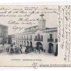 Postales: ASTURIAS. AYUNTAMIENTO DE OVIEDO FOTOTIP Y TIP BELLMUNT Y DIAZ. CIRCULADA 1902 REVERSO SIN DIVIDIR. Lote 19622876
