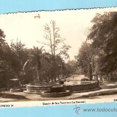 Cartes Postales: POSTAL DE OVIEDO, CAMPO DE SAN FRANCISCO (LA FONTANA), EDC ARRIBAS. Lote 26256582