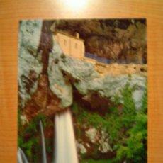 Postales: POSTAL COVADONGA GRUTA DE LA VIRGEN Y CASCADA SIN CIRCULAR. Lote 9411858