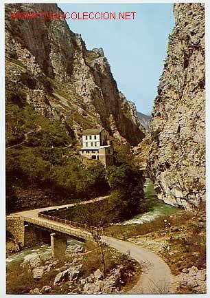 RUTA DE LOS PICOS DE EUROPA. DESFILADERO DEL CARES. PONCEBOS. ASTURIAS (Postales - España - Asturias Moderna (desde 1.940))