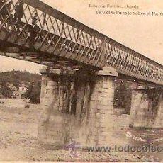 Postales: POSTAL TRUBIA PUENTE SOBRE EL NALON . Lote 10035967