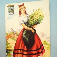 Postales: TRAJE REGIONAL ASTURIAS-1962. Lote 21445831