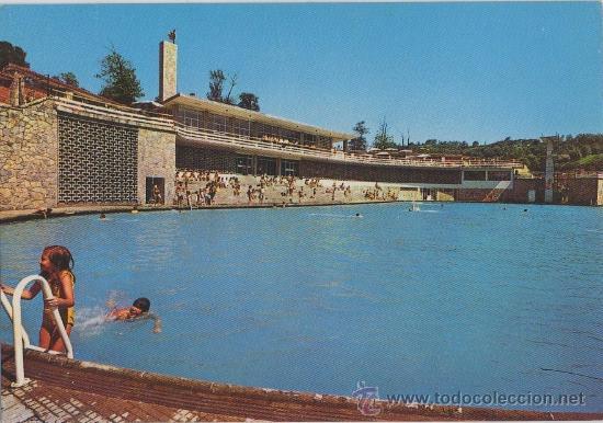 Tarjeta postal la felguera piscinas del parque comprar for Piscinas asturias