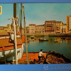 Postales: POSTAL DE GIJÓN. MUELLE. AÑOS 60.. Lote 16591038
