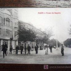Postales: POSTAL ANTIGUA ASTURIAS GIJÓN. PASEO DE BEGOÑA. EDITOR MATOS. . Lote 27013651