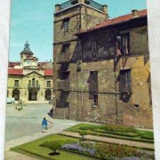 Postales: POSTAL AVILÉS AYUNTAMIENTO Y PLAZA ED GARCÍA GARRABELLA AÑOS 60 ASTURIAS SIN CIRCULAR. Lote 88966542