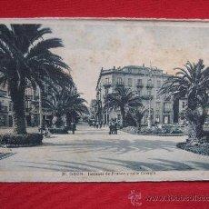 Postales: GIJON - JARDINES DE FRANCO Y CALLE CORRIDA. Lote 12757218