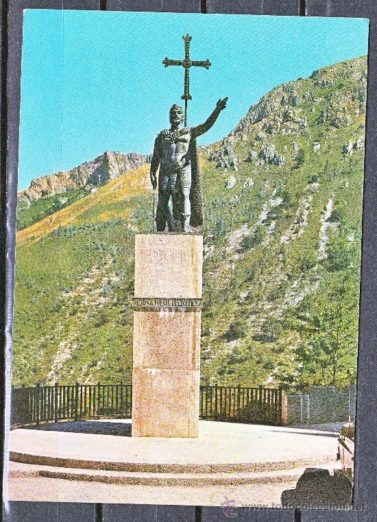 2.018- COVADONGA. ESTATUA DEL REY DON PELAYO (Postales - España - Asturias Moderna (desde 1.940))