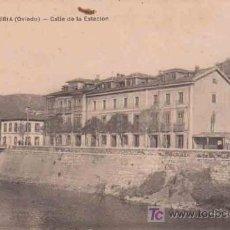 Postales: ANTIGUA POSTAL : TRUBIA - OVIEDO - CALLE DE LA ESTACIÓN. Lote 13920683
