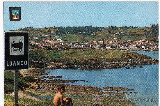 LUANCO - ASTURIAS - VISTA GENERAL - Nº 25 - ED. DOMINGUEZ - AÑO 1971 - CIRCULADA (Postales - España - Asturias Moderna (desde 1.940))