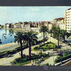Postales: POSTAL DE GIJON (ASTURIAS): MUELLE Y JARDINES DE LA REINA (ED.ARRIBAS NUM.2019). Lote 14586162