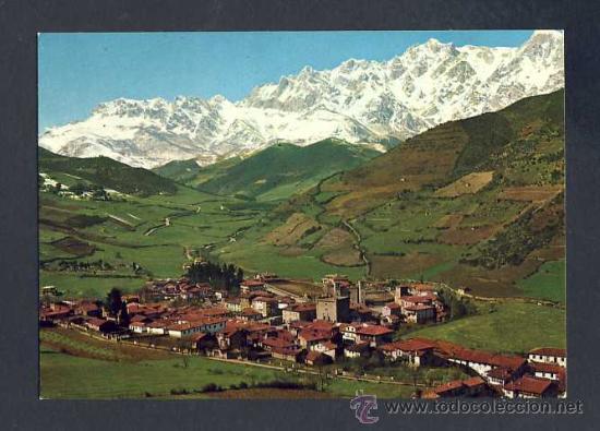 Postal De Potes Asturias Vista Del Pueblo Y Comprar Postales De Asturias En Todocoleccion 14586376