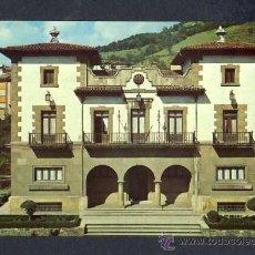 Postales: POSTAL DE POLA DE LENA (ASTURIAS): CASA CONSISTORIAL (ED.MEBA NUM.21). Lote 14586390