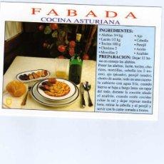 Postales: FABADA ASTURIANA INGREDIENTES Y PREPARACION. Lote 14759460