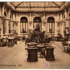 Postales: MAGNIFICA POSTAL- OVIEDO - HALL DEL HOTEL COVADONGA. Lote 18790685