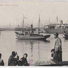 Postales: ASTURIAS. GIJON. MUELLE DE FOMENTO. EDICION DE BENIGNO FERNANDEZ. CIRCULADA EN 1910. Lote 21664567