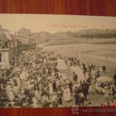 Postales: GIJON-PLAYA DE SAN LORENZO. Lote 24219872
