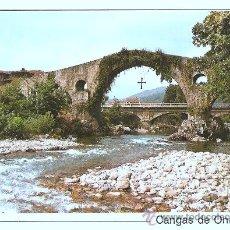 Postales: CANGAS DE ONIS Y RIO SELLA. Lote 15437027