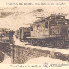 Postales: ASTURIAS.-TREN ELÉCTRICO EN LA SECCIÓN DE PAJARES. Lote 15952117