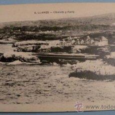 Postales: ANTIGUA POSTAL DE LLANES - ASTURIAS - CHALETS Y FARO - NO CIRCULADA - LIBRERIA PESQUERA FOTO C. GARC. Lote 17226686